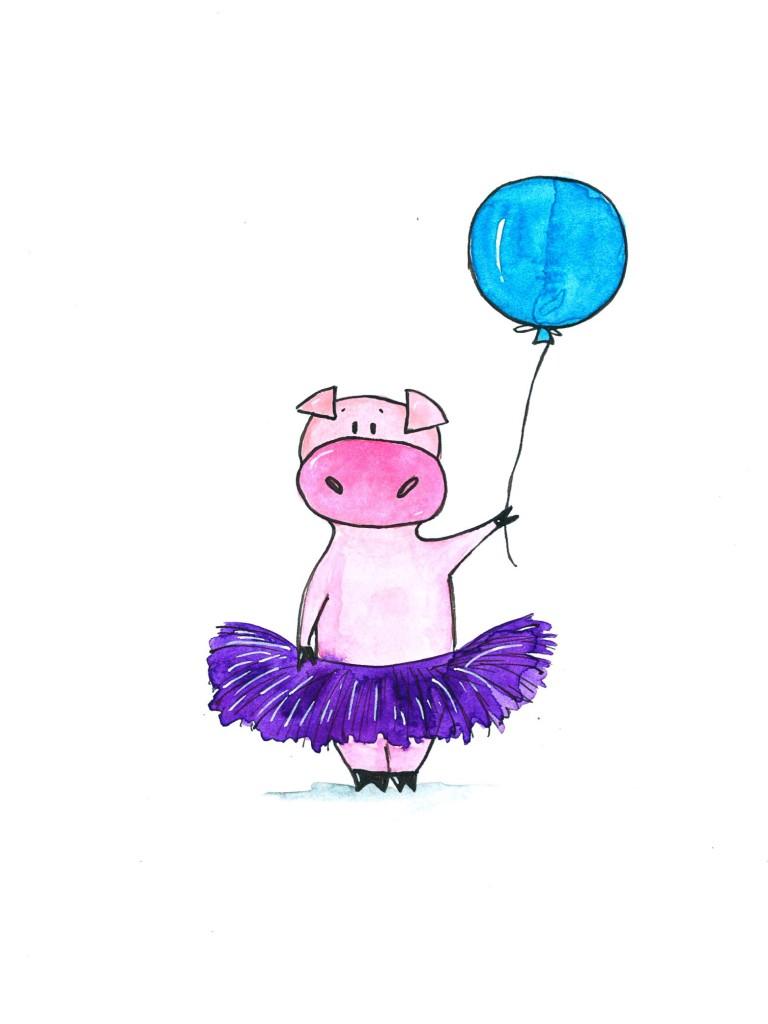 Pig_in_a_tutu_printable_OlyaSchmidt.com