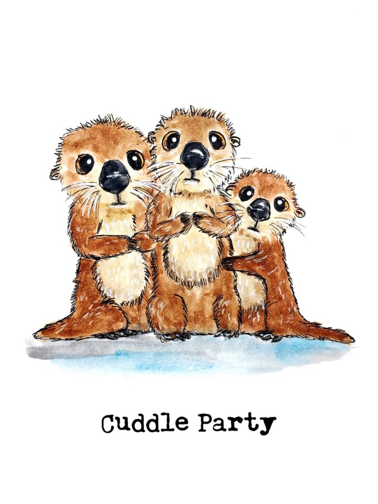 cuddle_party_otters_printable_OlyaSchmidt