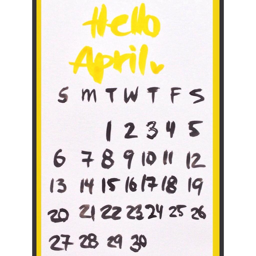 Hello April printable